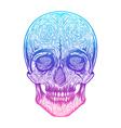 Human skull tribal styleTattoo blackwork hand vector image vector image