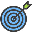 icon marketing target with arrow design vector image