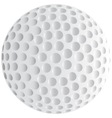 Isolated Golf Ball vector image vector image