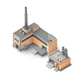 isometric industrial area concept vector image