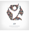 joy people sign 3d vector image vector image