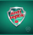 logo antiseptic sanitizer gel antiseptic antivirus vector image vector image