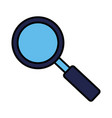 magnifying glass searching on white background vector image vector image