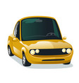 modern cartoon yellow car vector image