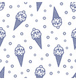 modern seamless pattern with ice cream in wafer vector image vector image