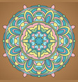 multicolored mandala vector image