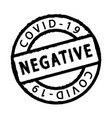 negative covid19 test vector image