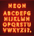 Neon font text lamp sign alphabet