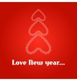 New years background with Christmas tree vector image