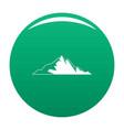 nice mountain icon green vector image