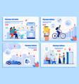 online pharmacy goods delivery web banners vector image vector image