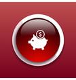 Piggy icon bank economy coin money piggy account vector image