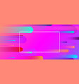 pink banner with frame and colorful geometric vector image