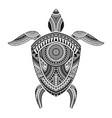polynesian tattoo turtle vector image