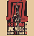 poster for a jazz festival live music vector image