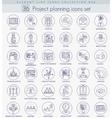Project planning outline icon set Elegant