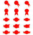 Red price-tags vector image vector image