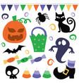 retro whimsical halloween vector image vector image