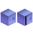 safe boxes isometric 3d icons isolated on white vector image