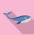 sea whale icon flat style vector image