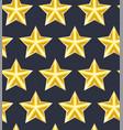 seamless pattern golden star vector image