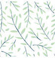 seamless pattern with herbs and leaves vector image