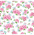 seamless pattern with little pink flowers and vector image vector image