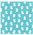 Seamless snowmans pattern vector | Price: 1 Credit (USD $1)