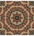 Seamless Tibet style mandala Oriental vintage art vector image