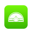 semicircular tent icon digital green vector image vector image