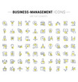 set line icons business-management vector image