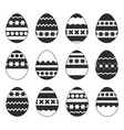 set of isolated easter eggs on a white background vector image vector image