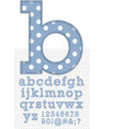 Set of stitched font vector image vector image