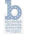 set stitched font vector image vector image