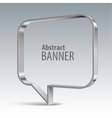 Shiny metal banner eps 10 vector image vector image