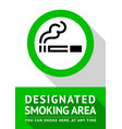 smoking place poster vector image vector image
