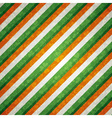 striped background with shamrock vector image