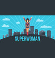 super woman concept vector image vector image