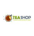 tea shop logo company tea logo logo vector image vector image