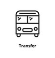 transfer line icon vector image
