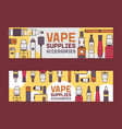 vapor pattern vaping device and modern vector image vector image