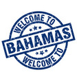 welcome to bahamas blue stamp vector image vector image