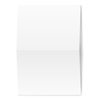 White blank paper vector image vector image