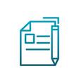writing sheet pen message communications gradient vector image