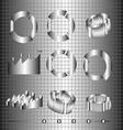 Business charts in 3d flat design Digital image vector image