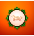 Merry christmas lettering calligraphy greeting vector image