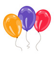 three colorful balloons vector image