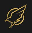 eagle logo emblem on a dark background vector image