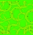 abstract green seamless pattern of gears and vector image