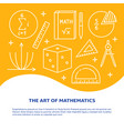 art mathematics banner in line style vector image